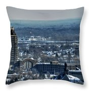 0045 After The Nov 2014 Storm Buffalo Ny Throw Pillow