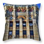 0049 Art Deco City Hall Throw Pillow