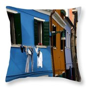 0049 Burano Colors 4 Throw Pillow