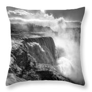 004a Niagara Falls Winter Wonderland Series Throw Pillow