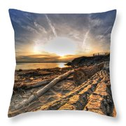005 After The Ice Melts Erie Basin Marina Series Throw Pillow