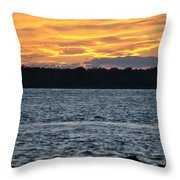 005 Awe In One Sunset Series At Erie Basin Marina Throw Pillow