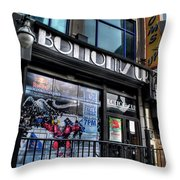 005 Bottoms Up And The Chip Strip Throw Pillow