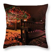 005 Christmas Light Show At Roswell Series Throw Pillow