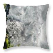 005 Niagara Falls Misty Blue Series Throw Pillow