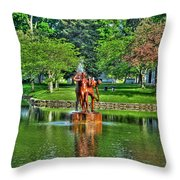 005 Reflecting At Forest Lawn Throw Pillow