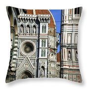 0051 Santa Maria Del Fiore Florence Italy Throw Pillow