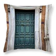 0053 Roman Door 2 Throw Pillow