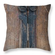 0056-door Throw Pillow