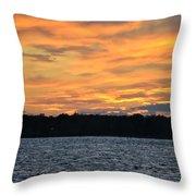 006 Awe In One Sunset Series At Erie Basin Marina Throw Pillow