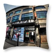 006 Bottoms Up And The Chip Strip Throw Pillow