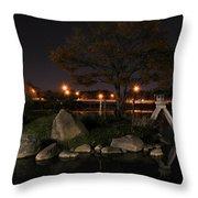 006 Japanese Garden Autumn Nights   Throw Pillow