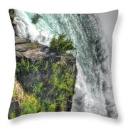 006 Niagara Falls Misty Blue Series Throw Pillow