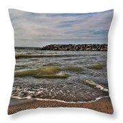 006 Presque Isle State Park Series Throw Pillow