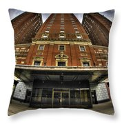006 The Statler Towers Throw Pillow