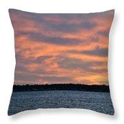 007 Awe In One Sunset Series At Erie Basin Marina Throw Pillow