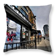 007 Bottoms Up And The Chip Strip Throw Pillow