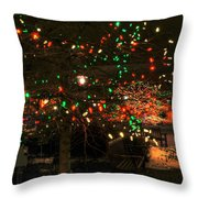 007 Christmas Light Show At Roswell Series Throw Pillow