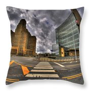 007 City Hall And The Court House Throw Pillow