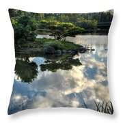 007 Delaware Park Japanese Garden Mirror Lake Series Throw Pillow