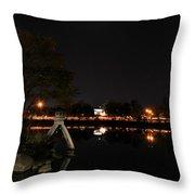007 Japanese Garden Autumn Nights   Throw Pillow