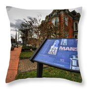 007 Mansion On Delaware Ave Throw Pillow