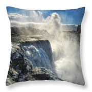 007 Niagara Falls Winter Wonderland Series Throw Pillow