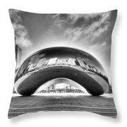 0079 The Bean - Millennium Park Chicago Throw Pillow