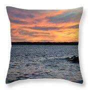 008 Awe In One Sunset Series At Erie Basin Marina Throw Pillow