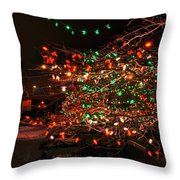 008 Christmas Light Show At Roswell Series Throw Pillow