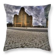 008 Entering The Traffic Circle Of Niagara Square Throw Pillow