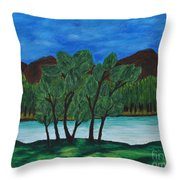 008 Landscape Throw Pillow
