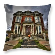 008 Mansion On Delaware Ave Throw Pillow