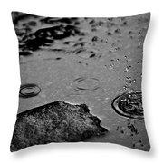 008 Melting Snow Throw Pillow