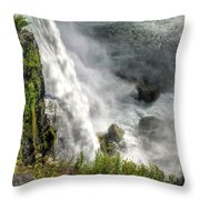 008 Niagara Falls Misty Blue Series Throw Pillow