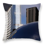 0081 The Bean And Trump Throw Pillow