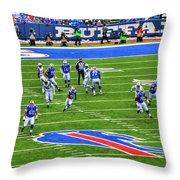 009 Buffalo Bills Vs Jets 30dec12 Throw Pillow