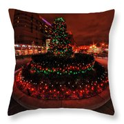 009 Christmas Light Show At Roswell Series Throw Pillow
