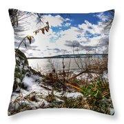 009 Grand Island Bridge Series Throw Pillow