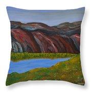 009 Landscape Throw Pillow