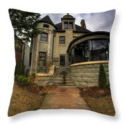 009 Law Offices Cornell Mansion Throw Pillow