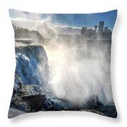 009 Niagara Falls Winter Wonderland Series Throw Pillow