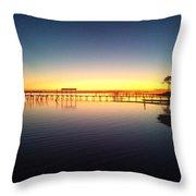0103 Sunset Twilight On Santa Rosa Sound Throw Pillow