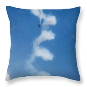 0107 - Air Show - Color Drawing Throw Pillow