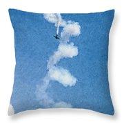 0107 - Air Show - Pastel Chalk 2 Hp Throw Pillow