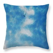 0107 - Air Show - Traveling Pigments Hp Throw Pillow