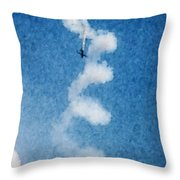 0107 - Air Show - Watercolor 1 Throw Pillow