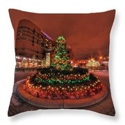 012 Christmas Light Show At Roswell Series Throw Pillow