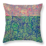 0122 Abstract Thought Throw Pillow