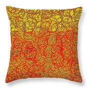0124 Abstract Thought Throw Pillow